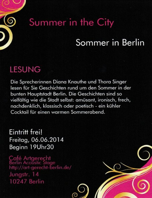 Flyer Lesung Diana Knauthe & Thora Singer 060614