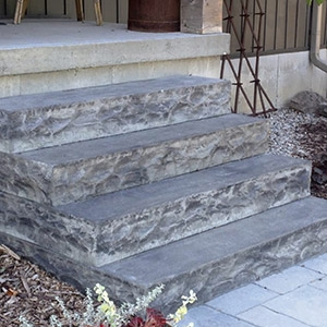 Pre Cast Steps Natural Stone Steps Railings Porches Schut S   Premade Steps For Outside   Handrail   Wood   Stair Railing   Deck   Wooden