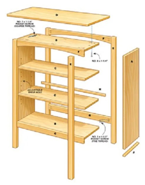 white build bookcase diy kentwood bookshelf ana projects plans
