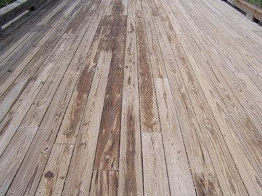 wooden deck maintenance