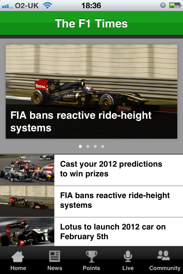 F1 App Review - Part One (5/5)