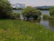 Jazero nad mestom Leskovik
