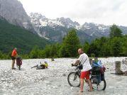 Štrkové polia v doline Valbone - Foto: Vaněk