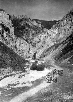 II.jaskyniarsky týždeň, Prosiecka dolina, foto Karol Sochúrek - 22.-27.7.1951