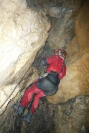 Výstup z jaskyne