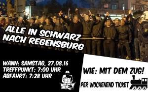In schwarz nach Regensburg