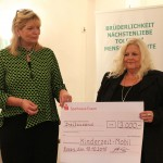 Spendenübergabe Zanjani & Kollenberg-Ewald