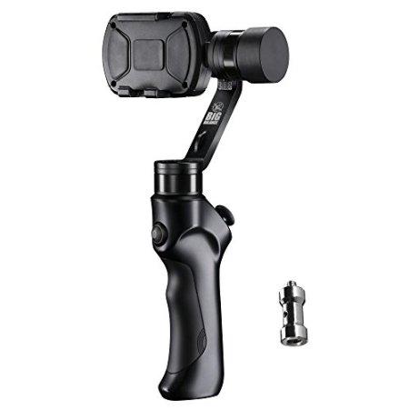 Big Balance Husky 3M 3-Achsen Gimbal Stabilisator (1/4 Zoll Anschluss, geeignet für Smartphone/GoPro) -