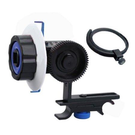 eimo Filmvorrichtung für DSLR-Kameras und Camcorder, Schultervorrichtung mit Follow Focus, Matte Box / Kompendium und Griff oben -