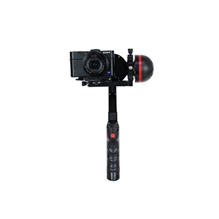 Jobo GYROpod MD1 Stativ für kompaktgröße Kamera mit vollautomatischer Verwacklungsschutz, verstellbarer Griff (360 Grad) und einstellbarer Neigungswinkel schwarz -