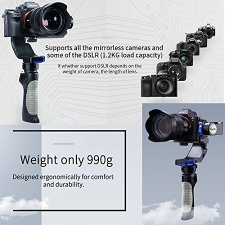 Nebula 4100 Lite Gyroscope Stabilizer For 5DRS 5D3 5D2 A7S Gimbal (4100 lite) -