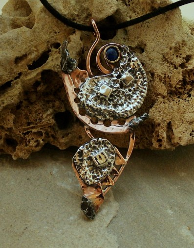 pendant-silver-sterling-copper-meteorites-campo-del-cielo-lapis-lazuli7nn-1