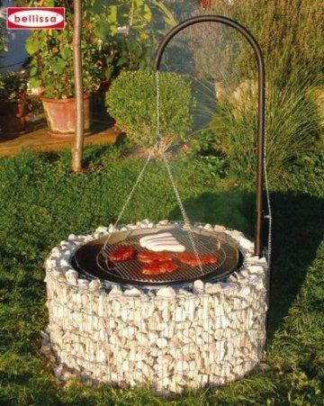 der gabionen grill im bausatz feuer und grillstelle in einem. Black Bedroom Furniture Sets. Home Design Ideas