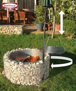 Feuer- und Grillstelle 920 x 400 mm, Gabionengrill - 1