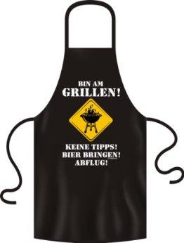"Grillschürze ""Bin am Grillen! Keine Tipps! Bier bringen! Abflug"" kochschürze männer, küchenschürze, kochschürze für männer, grillschürze für männer, grillschürze männer, grillhandschuhe, grillschürzen für männer lustige grillschürze"