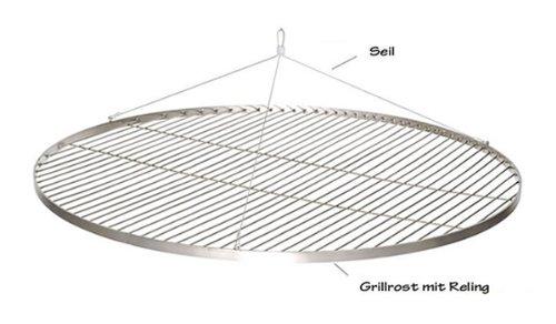 70cm großer Edelstahl Grillrost rund für deinen Grill