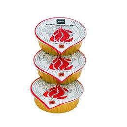 Kela 390010 Brennpaste, 6er-Set, Geruchslos, 1,0 h Brennzeit, 6 x  80 g, Magma -