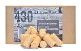 430° Öko Anzünder - 1,5 kg ca.150 Stk.- Kaminanzünder | Ofenanzünder | Grillanzünder | Brennholzanzünder | Holzkohle | Briketts | Kaminholz | Premium-Holz & Wachs | Top Qualität - 1