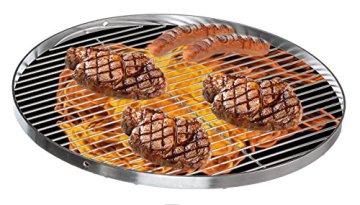 Edelstahl Grillrost Schwenkgrill geeignet - Rostfrei Edelstahl 18/0 Asi 430 Nickelfrei - Ø 50 cm - 6