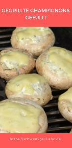 Gegrillte Champignons gefüllt-2