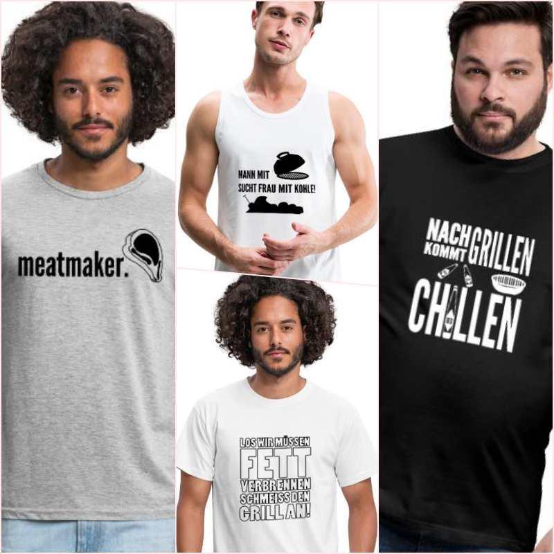 Schwenkgrill-T-Shirt-Sprüche