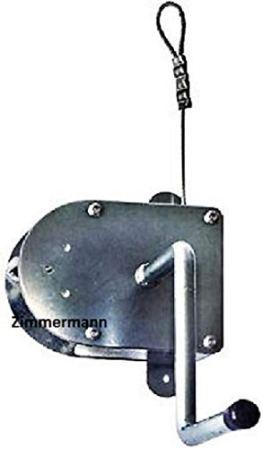 Schneider Kurbel verzinkt mit 8 m Drahtseil für Roste bis 70 cm Schwenkgrill - 1