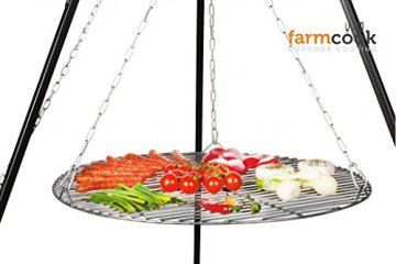 FARMCOOK Schwenkgrill NOBEL Dreibein mit Grillrost aus Rohstahl in 4 Größen (Ø 70 cm) - 4