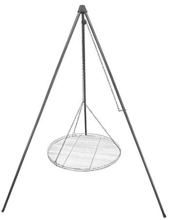 Huber Grillgeräte Dreibein Schwenkgrill inkl. 60 cm Rost aus Deutscher Produktion - 1