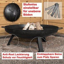 Köhko Feuerschale Ø 79 cm - Beine Anti-Rost lackiert - eintsellbare und abnehmbare Beine 41005 - 1