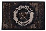andiamo Grillmatte BBQ, robust, mehrer Grilldesigns & Größen Rechteck & Rund, Größe:80 x 120 cm, Farbe:Braun - 1