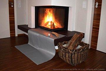 Zettl Bodenschutzdecke bis 550°C, geeignet als feuerfeste Unterlage für Kamin, Grilldecke oder Grillmatte, Original hitzebeständige Bodenschutzmatte Grillschutzmatte, Größe quadratisch ca. 2m x 2m - 6
