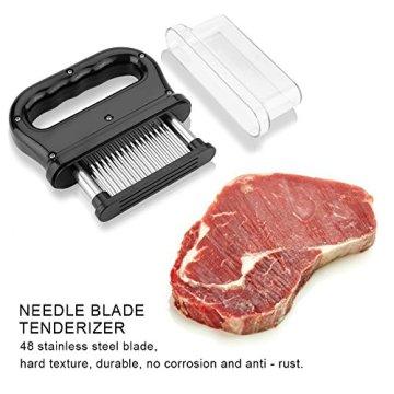 Fleisch Fleischzartmacher zartmacher Tenderizer 48 Edelstahl Ultra Sharp Nadel Klingen Tenderizers Manuelle Küche Werkzeug für Steak Rindfleisch Huhn Schweinefleisch - 4