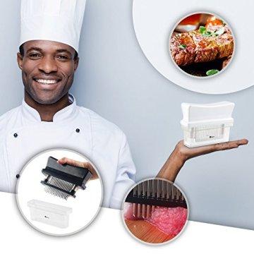 ORBLUE Fleischzartmacher mit 48 Edelstahlklingen - 3