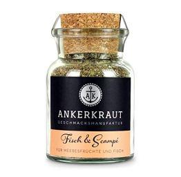 Ankerkraut Fisch & Scampi Trockenmarinade / BBQ-Rub, 70g im Korkenglas - 1