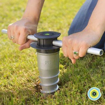 GARD & ROCK - ANKERFUSS aus Aluminium, steht nicht über - zum Verschrauben oder Einbetonieren in jedem Untergrund - Quick Fixation System - IM HANDUMDREHEN AUFGEBAUT - 1