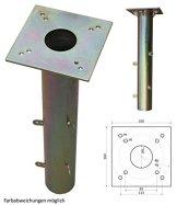 ProKIRA® Universal Bodenhülse Bodenplatte für Sonnenschirme & Wäschespinnen Gartenschirm, Schirmständer geeignet, 16x16cm, einfache Montage - 1