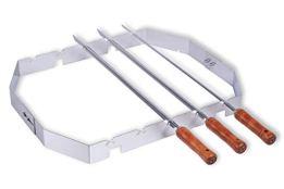 Moesta-BBQ 10249 – Churrasco BBQ Set für Smokin' PizzaRing – Bratspieß-Mangal-Aufsatz für Kugelgrill - 57cm Durchmesser - 1