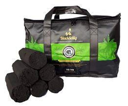 BlackSellig 10 Kg Stangen Kokos Grill Briketts XXL Reine Kokosnussschalen Grillkohle - perfekte Profiqualität - 1