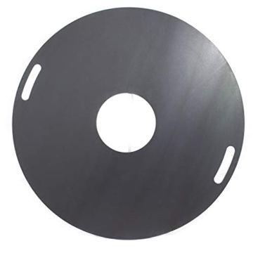 A. Weyck Tools Multifunktionstonne | Feuertonne | Feuerplatte | Dutch Oven Station | Pizza Ofen | Kamin | Plancha | Komplettsets (Multitonne-100cm Feuerplatte Set #170) - 7