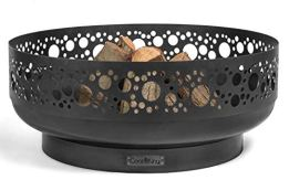 Feuerschale Boston Ø 80 cm Feuerstelle für Garten aus Stahl Feuerkorb als Wärmequelle oder Grill CookKing - 1