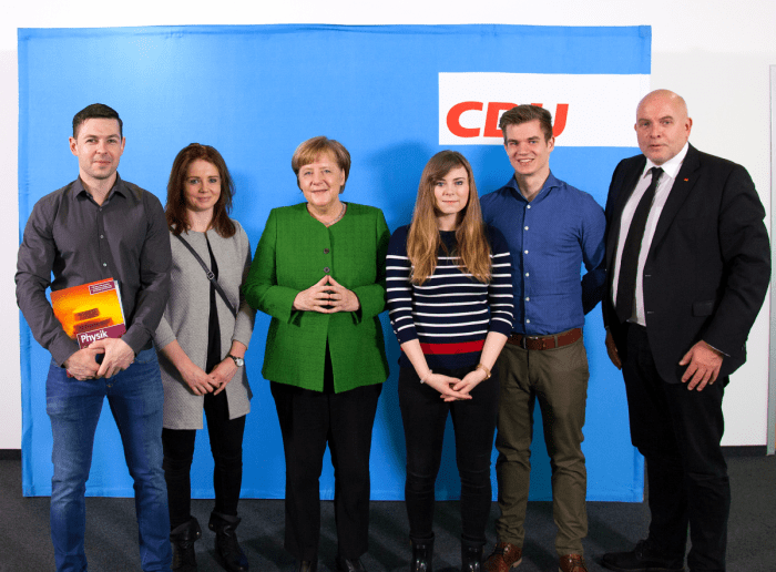 Vier Westmecklenburger bei Bundeskanzlerin Merkel