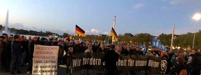 Montagsdemos in Schwerin