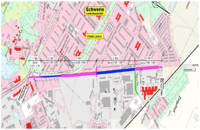 Instandsetzung der Fahrbahn in derGrevesmühlener  Straße geht weiter