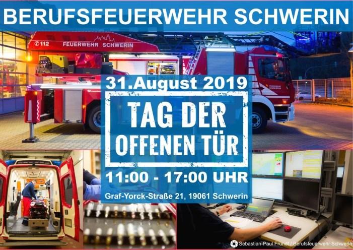 Schwerin: Feuerwehr lädt ein zum Tag der offenen Tür