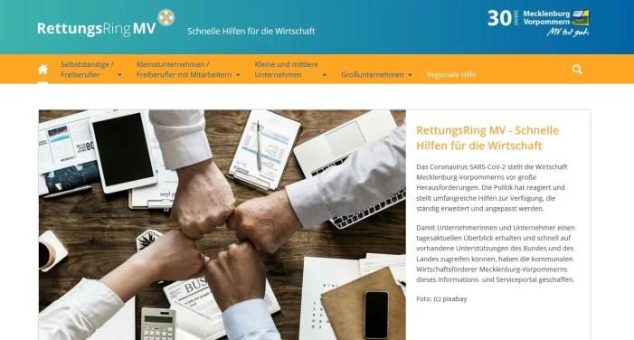 Schwerin: Landesportal Corona-Hilfen ist online