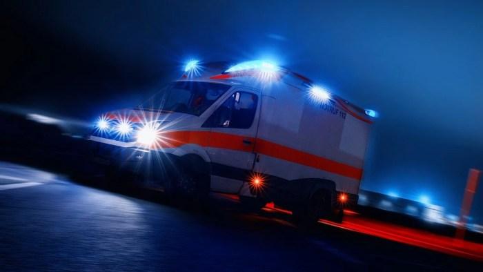 Schwerin: Rettungswagen in Verkehrsunfall verwickelt