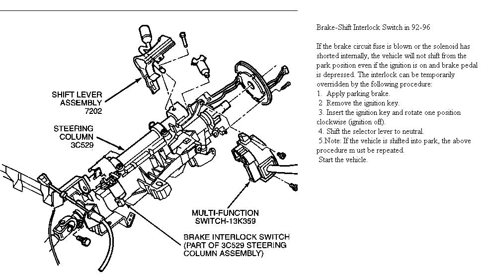 89 F150 Steering Column Diagram