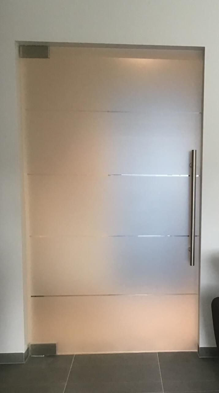 menuiserie porte en verre