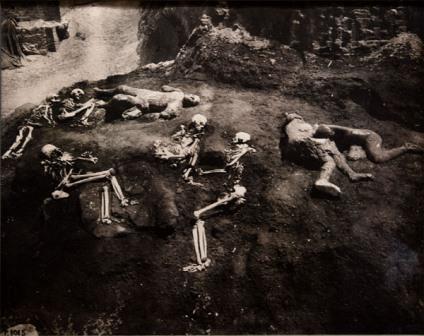Погибшие в саду Дома криптопортика, фотография с раскопок