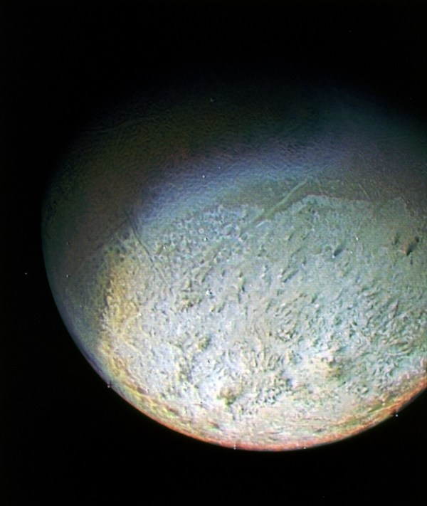 ESA Science & Technology: Image of Triton from Voyager 2